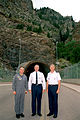 Generals Latiff, Myers and Ryan outside the Cheyenne Mountain Complex tunnel entrance.JPEG
