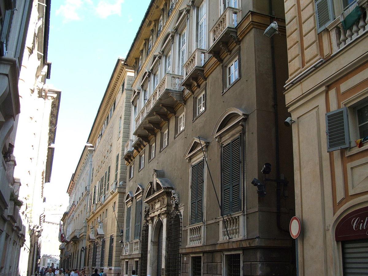 Le strade nuove e il sistema dei palazzi dei rolli di for Piani di palazzi contemporanei