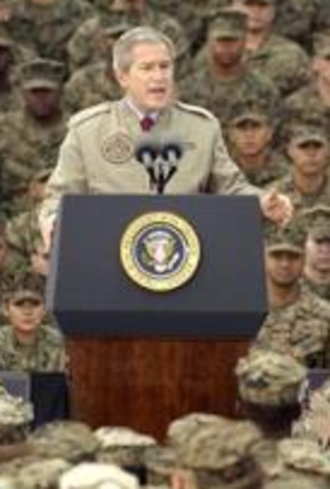 Marine Corps Base Camp Pendleton - President George W. Bush addressing Marines and sailors at Camp Pendleton in December 2004.