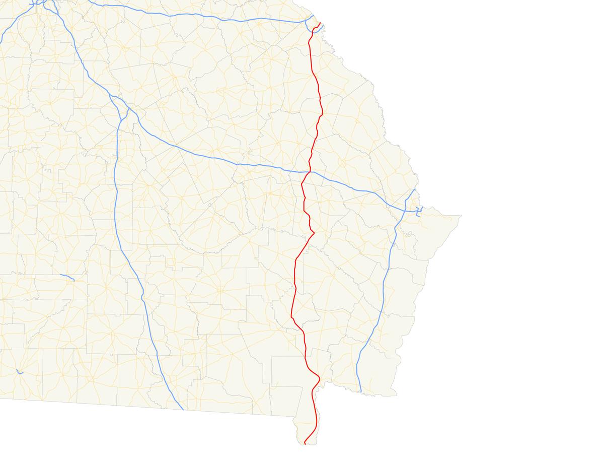 Georgia State Route Wikipedia - Geogia state map