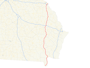 Georgia State Route 121 - Image: Georgia state route 121 map