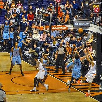Gerald Green - Gerald Green shooting a fadeaway jumper vs. the Memphis Grizzlies as a member of the Suns