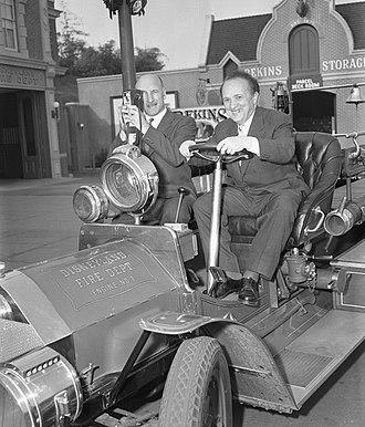 Sergei Gerasimov (film director) - Sergei Gerasimov and playwright Georgrii Mdivani tour Disneyland, 1958
