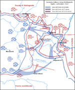 L'avanzata convergente dei tedeschi su Stalingrado.