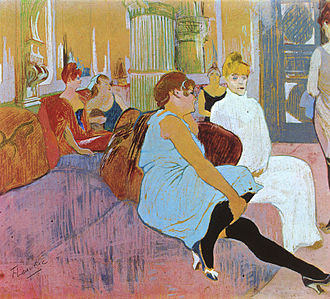 Brothel - Henri de Toulouse-Lautrec, Salon at the Rue des Moulins, 1894