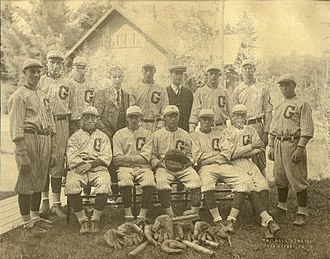 Daniel Coit Gilman - Baseball team, Gilman High School, Northeast Harbor, Maine, 1922