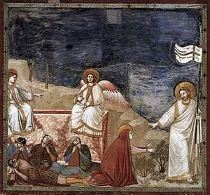 Giotto di Bondone - No. 37 Scenes from the Life of Christ - 21. Resurrection (Noli me tangere) - WGA09224.jpg