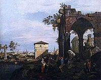 Giovanni Antonio Canal, il Canaletto - Capriccio with Ruins and Porta Portello, Padua - WGA03971.jpg