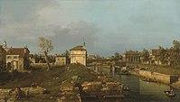 Giovanni Antonio Canal, il Canaletto - The Brenta Canal at Padua - WGA03914.jpg