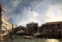 Giovanni Antonio Canal, il Canaletto - The Grand Canal near the Ponte di Rialto - WGA03852.jpg