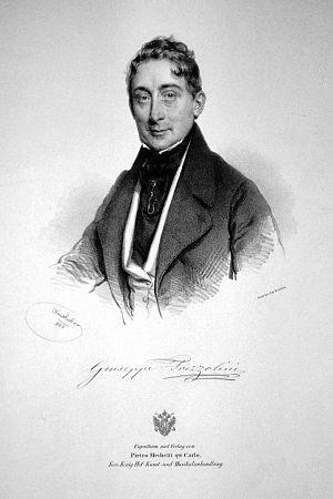 Giuseppe Frezzolini - Giuseppe Frezzolini Lithograph by Josef Kriehuber, 1840