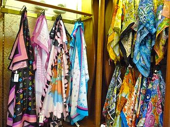 Imported silk scarves