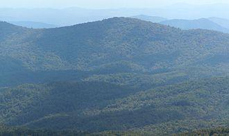 Glade Mountain - Glade Mountain viewed from Whiteside Mountain