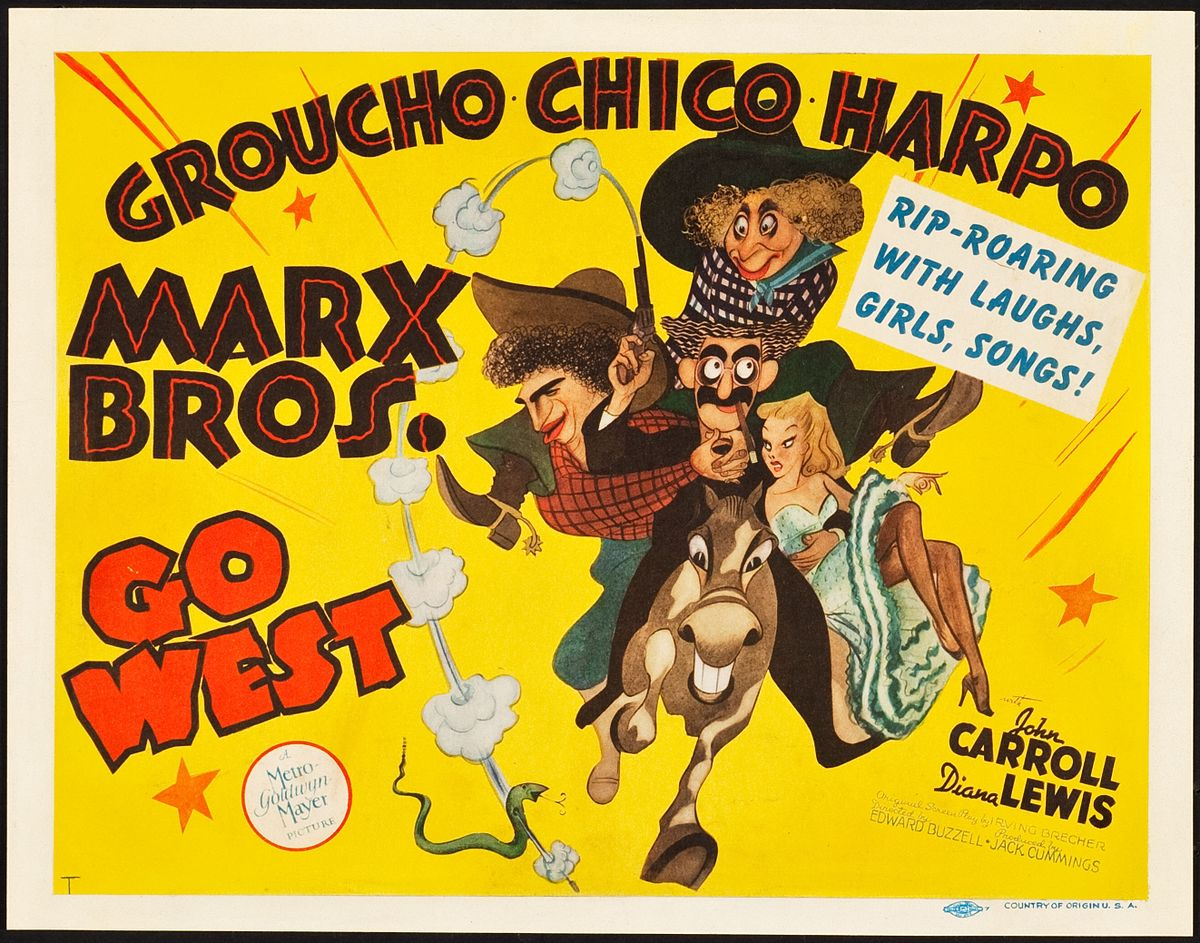 Image result for marx bros go west poster