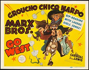 Go West (1940 film) - Theatrical release poster.