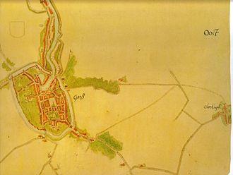Jacob van Deventer (cartographer) - Image: Goes 1572 Minuut+ v Deventer