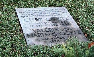 Curt Goetz - Curt Goetz' and his wife's grave