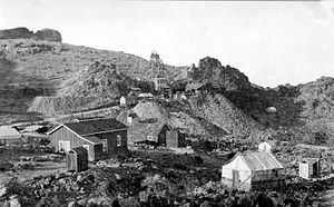 Gold mining in the United States - Gold Road mine, Oatman, Arizona.