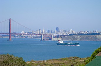 Golden Gate Bridge and San Francisco Bay