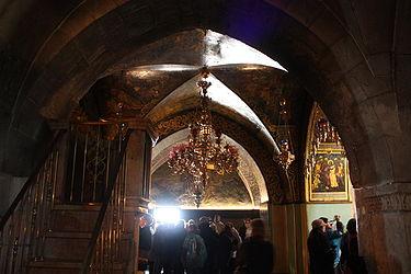 Golgotha chandelier, Holy Sepulchre 2010.jpg