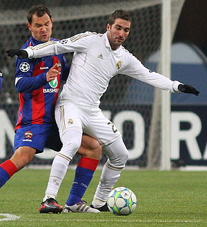 Gonzalo Higuaín - Higuaín in a Champions League game against CSKA Moscow in February 2012