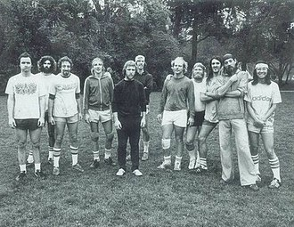 Ken Westerfield - Good Times Ultimate Team. Westerfield (second from the right). Good friend and disc sports promoter Tom Schot (fifth from the right) in the Northern California Ultimate Frisbee League, Santa Cruz, CA. 1978.