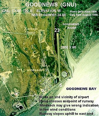 Goodnews Bay, Alaska - Aerial photograph of Goodnews Bay