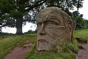Goram and Vincent - Sculpture of Goram the Giant in the grounds of Ashton Court
