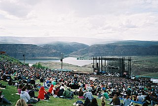 The Gorge Amphitheatre concert venue in George, Washington, United States of America