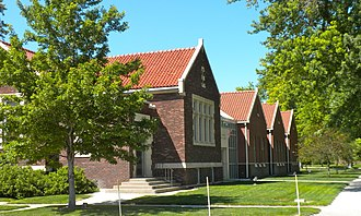 Gothenburg, Nebraska - Carnegie Public Library at 1104 Lake Avenue is also listed on the National Register of Historic Places