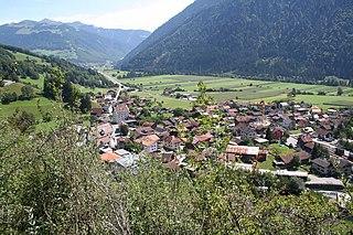 Grüsch Place in Graubünden, Switzerland