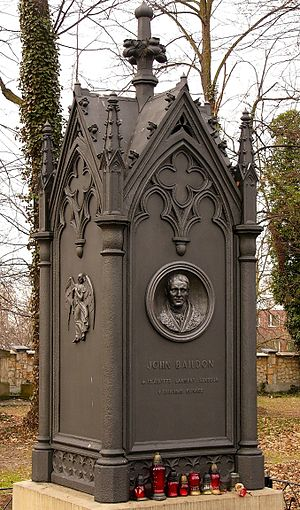 John Baildon - The grave of John Baildon on the Metallurgical Cemetery in Gleiwitz (Gliwice)