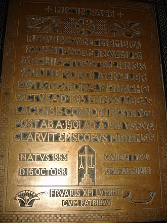 Willibrord Benzler - Grave within St. Martin's church at Beuron Archabbey