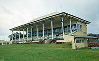 Grandstand, Cluden Racecourse, 2000.jpg