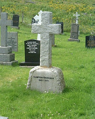 Compton Mackenzie - Grave of Compton MacKenzie, Eoligarry, Isle of Barra