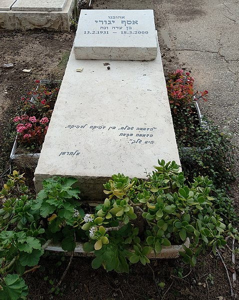 קובץ:Grave of Assaf Yaguri.jpg