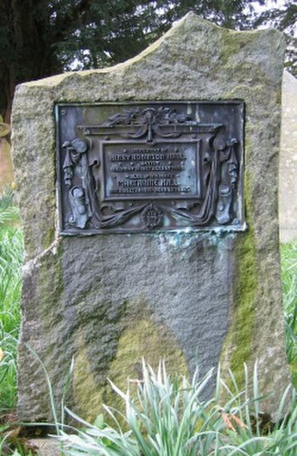 Henry Robinson Hall - Grave marker