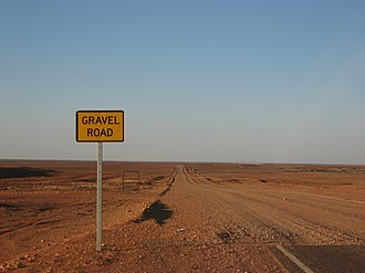 Gravel road - Image: Gravel Road Coober Pedy