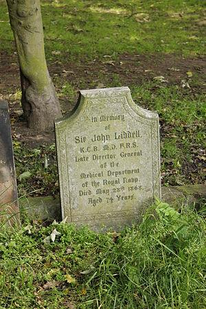 John Liddell (doctor) - Gravestone of Sir John Liddell in East Greenwich Pleasaunce, London