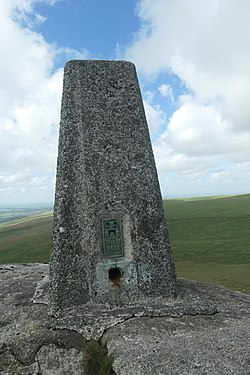 Great Links Tor, trigpoint, July 2020.jpg