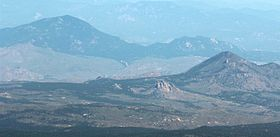 Green Mountain (Kenosha Mountains) and Thunder Butte viewed from Pikes Peak 2.jpg