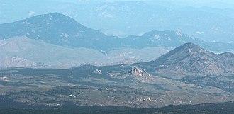 Green Mountain (Kenosha Mountains) - Image: Green Mountain (Kenosha Mountains) and Thunder Butte viewed from Pikes Peak 2