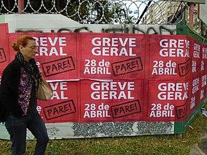 2017 Brazilian general strike - Posters announcing the strike