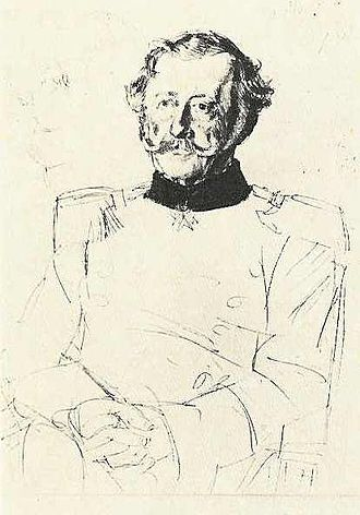 Gustav von Alvensleben - Gustav von Alvensleben (sketch by Adolph Menzel)