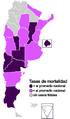 H1N1 Argentina (mortalidad 2807) Map.png