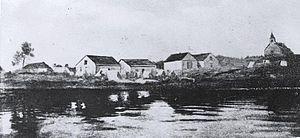Lake Abitibi - Hudson's Bay Company post on Lake Abitibi, circa 1910