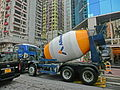 HK 北角 North Point 油街 Oil Street Cement mixer truck 友盟 Alliance Construction Materials Mar-2014.JPG