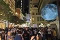 HK 灣仔 Wan Chai 利東街 Lee Tung The Avenue night 月球博物館 big Moon Museum by UK Luke Jerram October 2017 IX1 23.jpg