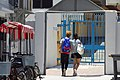 HK 長洲 Cheung Chau Tung Wan 東堤小築 Bela Vista Villa visitors blue gate May 2018 IX2 01.jpg