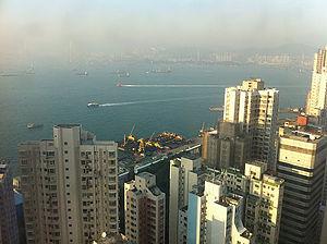 HK Kennedy Town Belcher's Hill 寶雅山 seaview Kowloon Victoria Harbour 40 Dec-2011.jpg